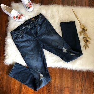 Level 99 Lily Skinny Straight Distressed Jeans